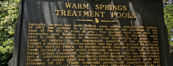 Warm Springs Historic Pools is one of Katie'nin Beğendiği Mekanlar.