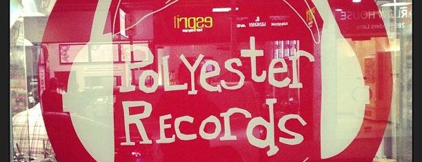 Polyester Records is one of Orte, die Adam gefallen.