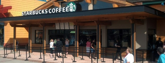 Starbucks is one of Disney Springs.