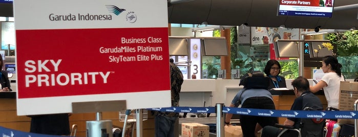Garuda Indonesia (GA) Check-in Counter is one of Singapore: business while travelling part 3.