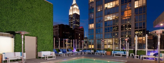 Gansevoort Park Rooftop is one of Rooftop Bars with Drinks to get Drunk in NYC.
