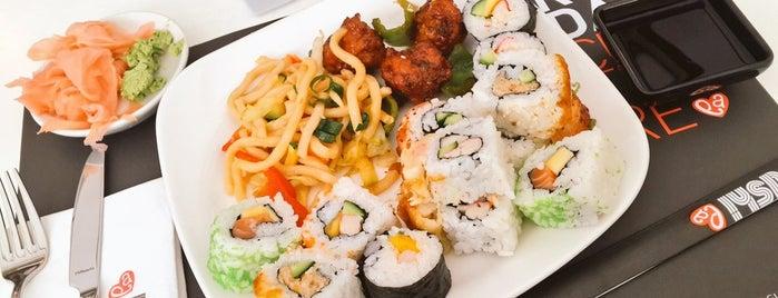 Sushi La is one of Tempat yang Disukai Hanna.
