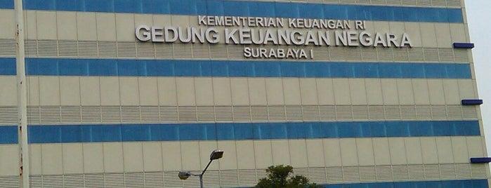Gedung Dirjen Pajak&Keuangan Negara Kanwil Surabaya 1 is one of Government of Surabaya and East Java.