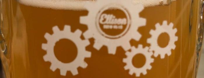 Ellison Brewery + Spirits is one of Amy's Lansing Favorites.