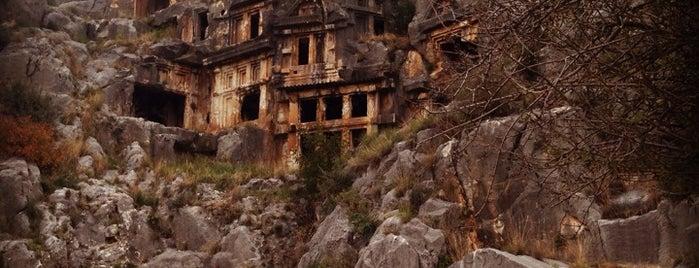 Myra Kaya Mezarları, Demre Antalya is one of Antalya genel gezilir.