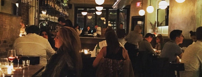 Estela is one of The 38 Essential New York Restaurants, Winter 2017.