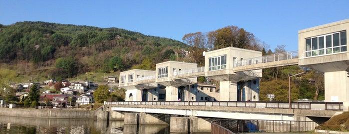 釜口水門 is one of 諏訪湖ポタ♪.