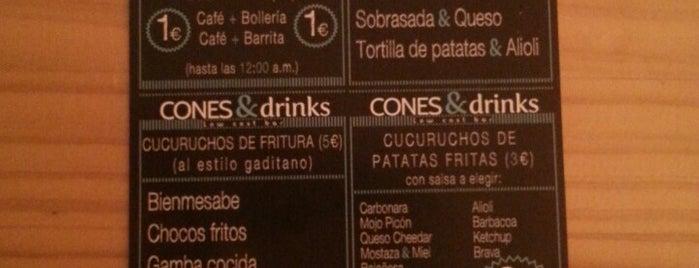 Cone & Drinks is one of Lugares favoritos de Ángel.