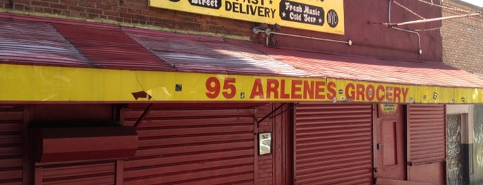 Arlene's Grocery is one of East.