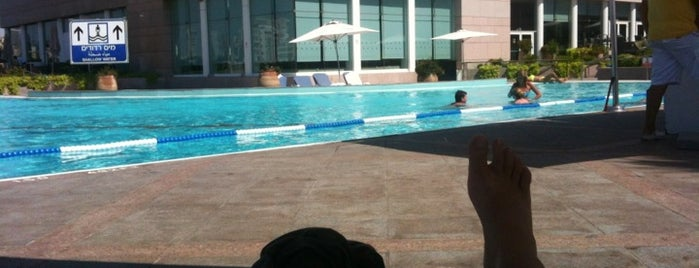 Poolside @ The Intercontinental David Tel Aviv is one of Locais curtidos por jordi.