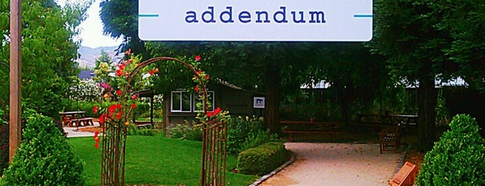Addendum is one of West Coast Restaurants.
