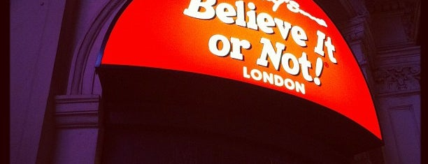 Ripley's Believe It Or Not! is one of Late nights at London museums and galleries.