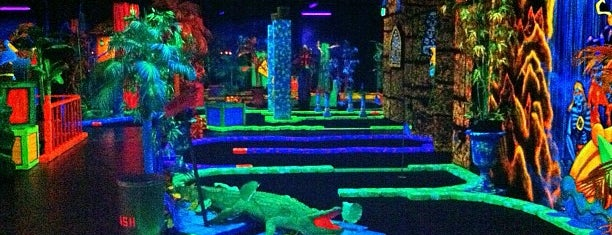 Glowing Greens Mini Golf is one of Portland.