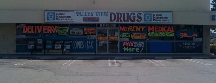 Valley View Drugs is one of west la mirada.