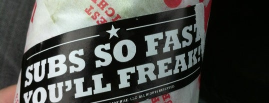 Jimmy John's is one of Fast but Yum..