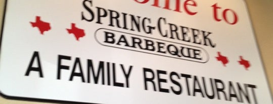 Spring Creek Barbeque is one of North Texas favs.