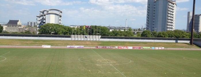 Nagoya City Minato Soccer Stadium is one of Orte, die ばぁのすけ39号 gefallen.