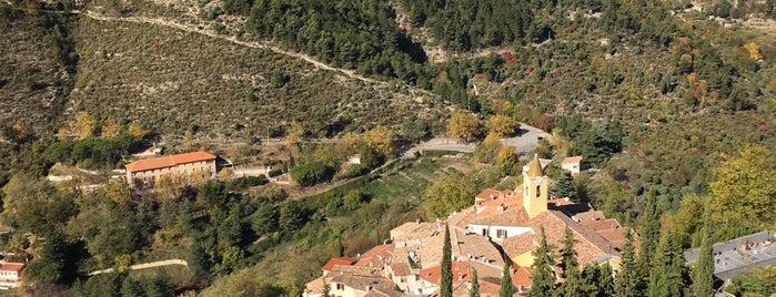 Sainte-Agnès is one of Les plus beaux villages de France.
