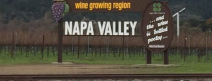 """""""Welcome to Napa Valley"""" Sign is one of san fo."""