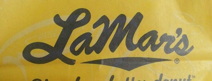 LaMar's Donuts and Coffee is one of Tempat yang Disukai Kristen.
