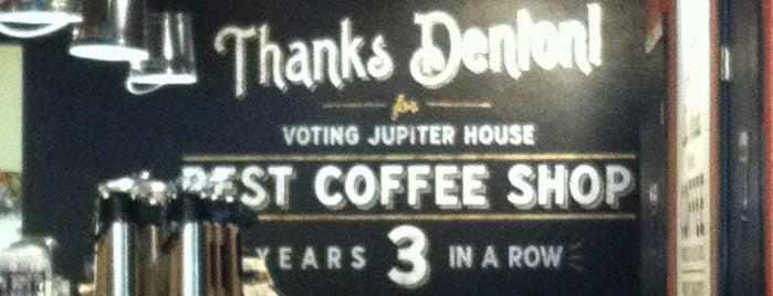Jupiter House Coffee is one of Denton.