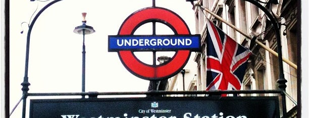Westminster London Underground Station is one of Harry Potter sights.