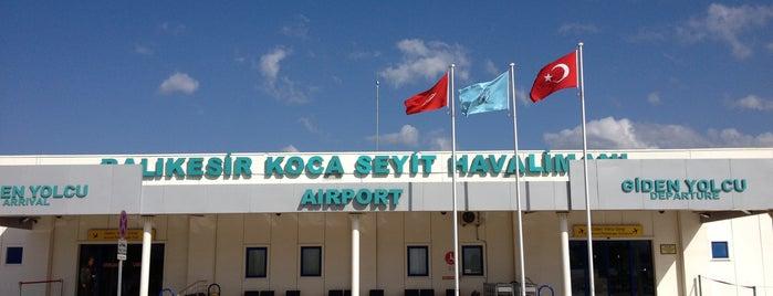 Balıkesir Koca Seyit Havalimanı (EDO) is one of Lugares favoritos de Gizem.