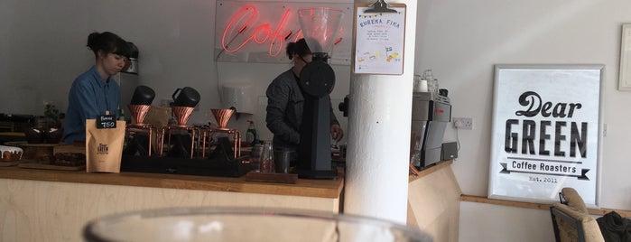 Dear Green Coffee Roaster Cafe is one of Europe specialty coffee shops & roasteries.