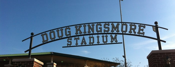 Doug Kingsmore Stadium is one of Lieux sauvegardés par Joshua.
