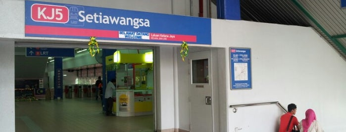 RapidKL Setiawangsa (KJ5) LRT Station is one of สถานที่ที่ Aishah ถูกใจ.