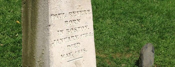 Paul Revere's Tomb is one of Boston: Fun + Recreation.