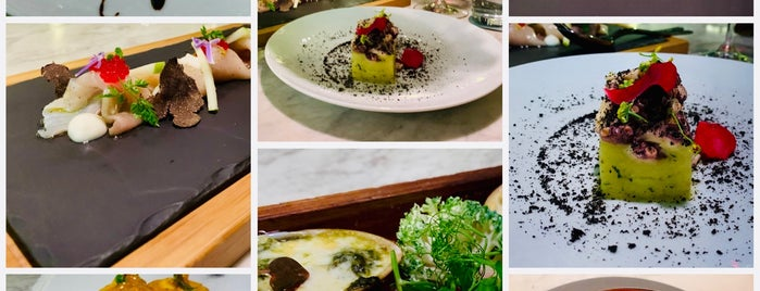 Sepia / Cocina De Mar is one of Tempat yang Disukai Damon.