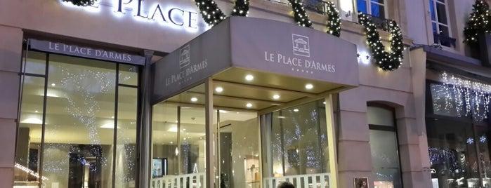 Hotel Le Place d' Armes is one of Tempat yang Disukai Tonie.