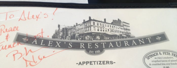 Alex's Restaurant is one of CIA.