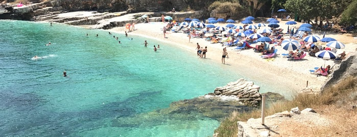 Bataria Beach is one of Corfu, Greece.
