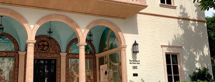 The Society of the Four Arts is one of Palm beach island spots.
