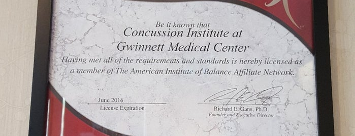 Concussion Institute at GMC-Duluth is one of Dennis's Liked Places.