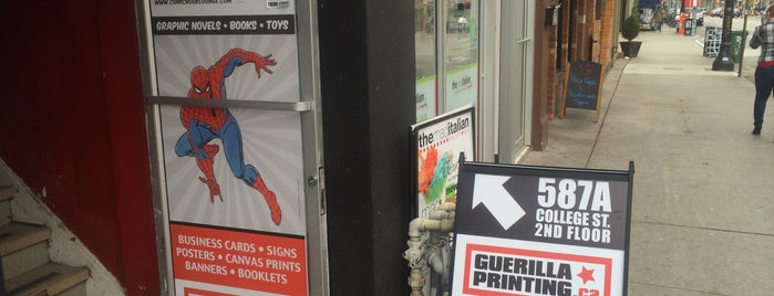 The Comic Book Lounge + Gallery is one of Toronto.