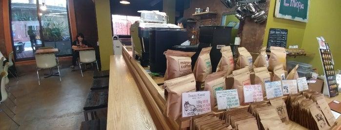 manu coffee 承天寺店 is one of 大人が行きたいうまい店2 福岡.