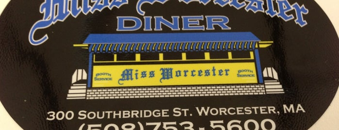 Miss Worcester Diner is one of Massachusetts.
