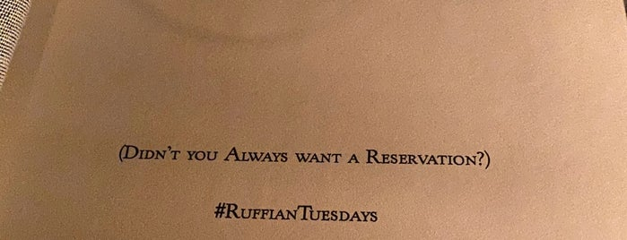 Ruffian Wine Bar & Chef's Table is one of NYC East Village.
