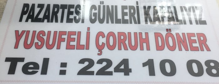 Yusufeli Çoruh Döner Salonu is one of Tempat yang Disukai Gizem.