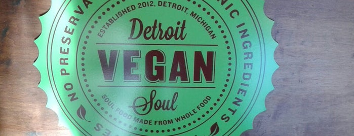 Detroit Vegan Soul is one of Andy 님이 저장한 장소.
