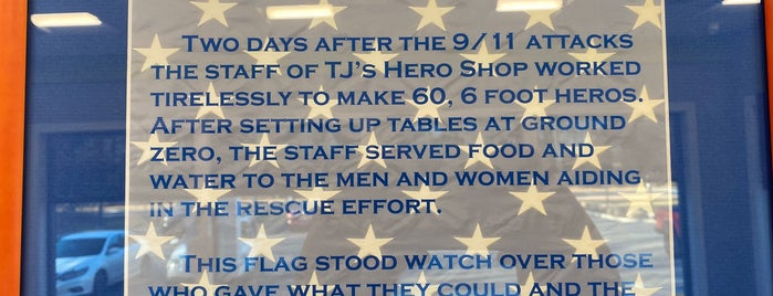 T.J.'s Hero Shop is one of The Hamptons.