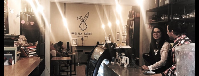 the black rabbit coffee shop is one of Josh & Em DF Trip.