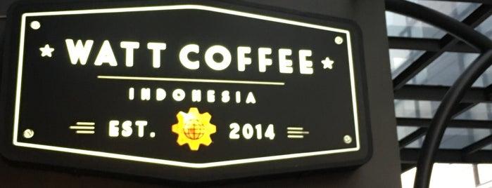 Watt Coffee Kemang is one of (South) Jakarta Coffee Manual 2016.