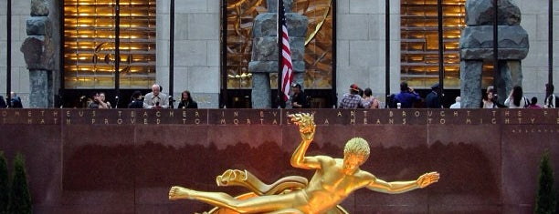 Rockefeller Center is one of Fly me to the moon.