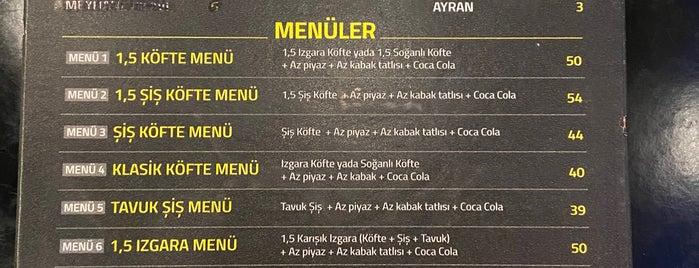 Arap Nazmi Şiş Köfte Piyaz is one of neu.