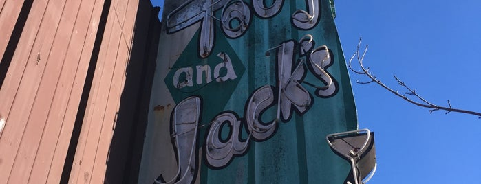 Toby and Jack's is one of Northern CALIFORNIA: Vintage Signs.