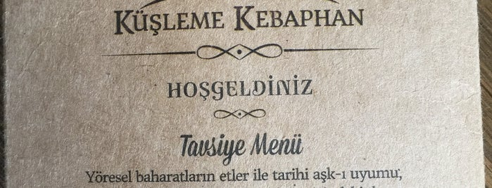 Küşleme Kebaphan is one of Lugares favoritos de 🙋🏻Aydan.